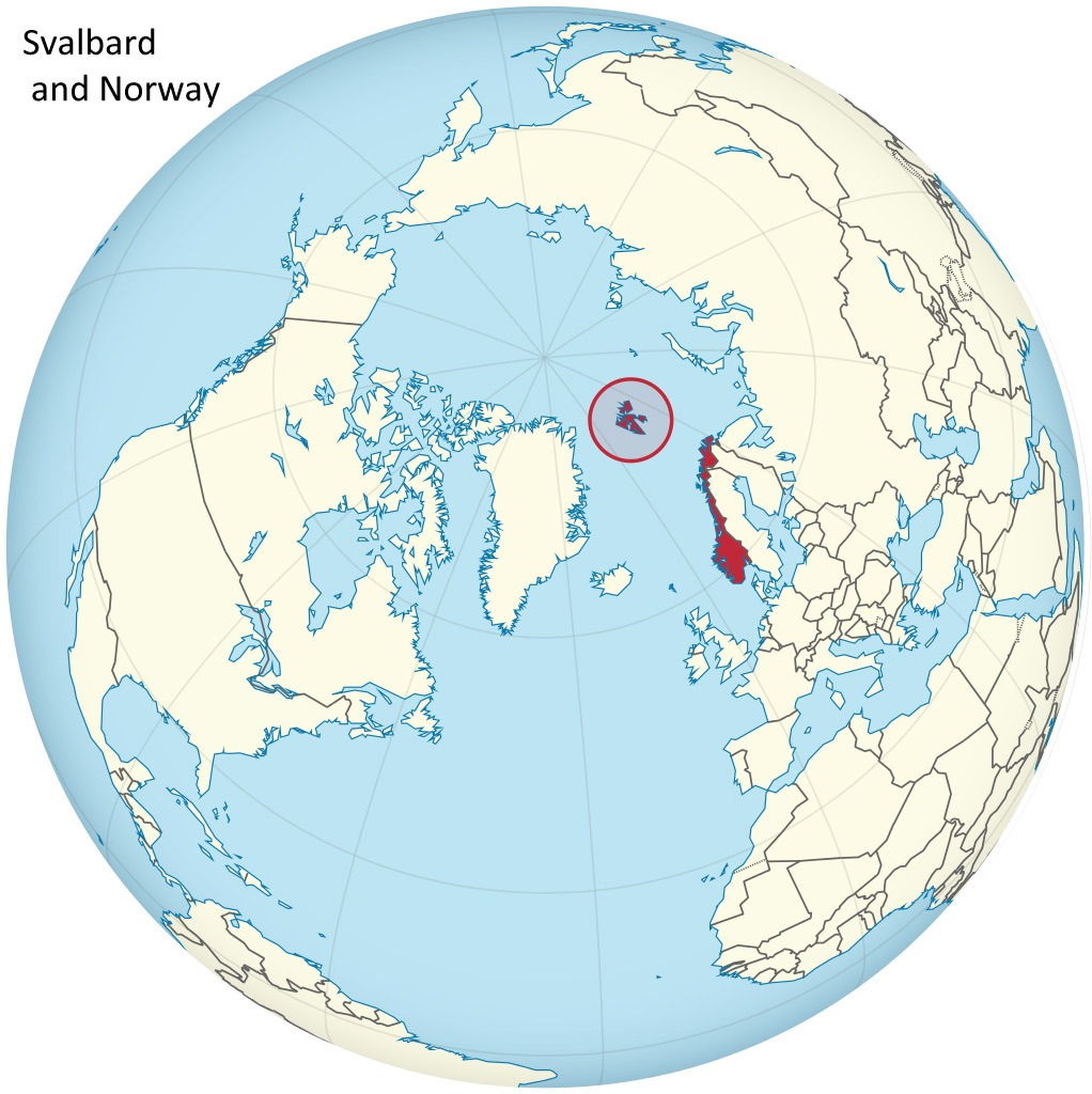 Location of Svalbard